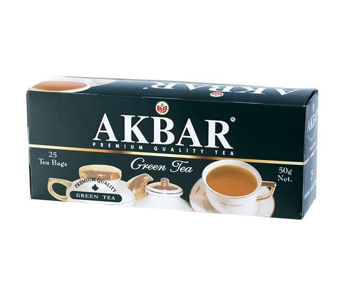 Чай Akbar Чай мелколистовой Green Tea 25 пак чай akbar чай черный ароматизированный яблоко и шиповник 25 пак