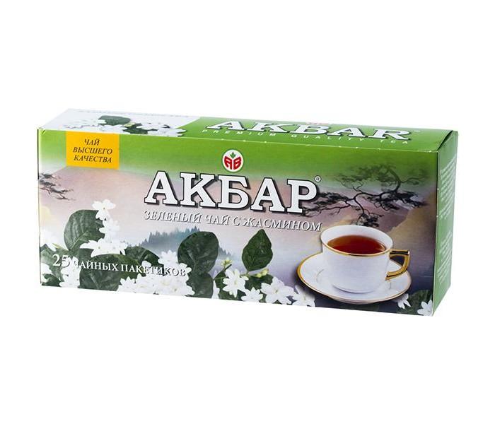 Чай Akbar Чай зеленый мелколистовой с Жасмином 25 пак