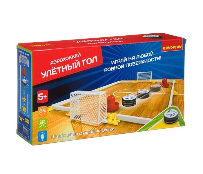 Картинка для Настольные игры Bondibon Аэрохоккей Улетный гол с двумя воротами
