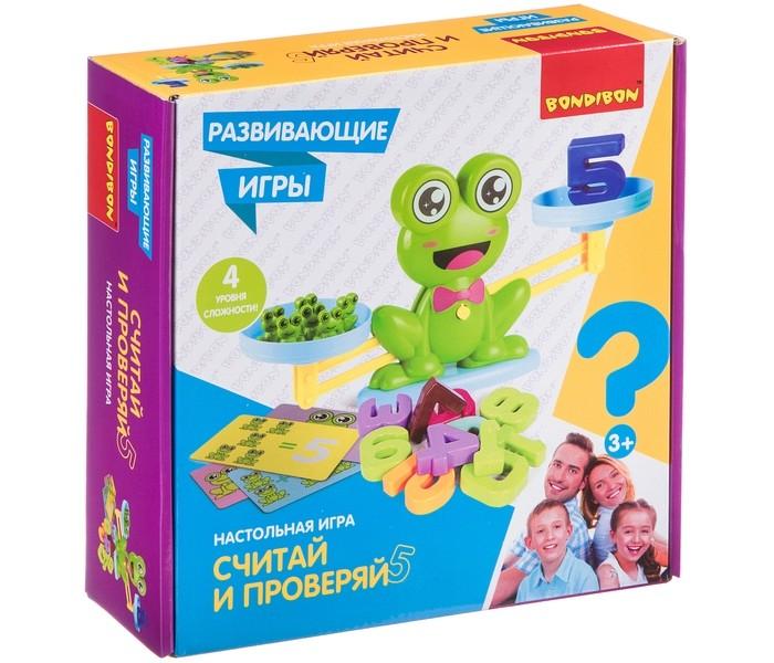 Картинка для Настольные игры Bondibon Настольная игра Считай и проверяй с лягушатами