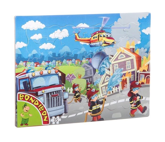 Картинка для Пазлы Bondibon Пазл Пожарная служба (35 деталей)