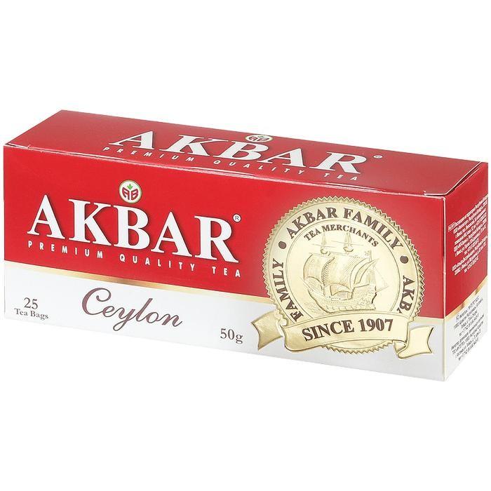 Чай Akbar Чай черный мелколистовой Цейлон 25 пак чай akbar чай черный ароматизированный яблоко и шиповник 25 пак
