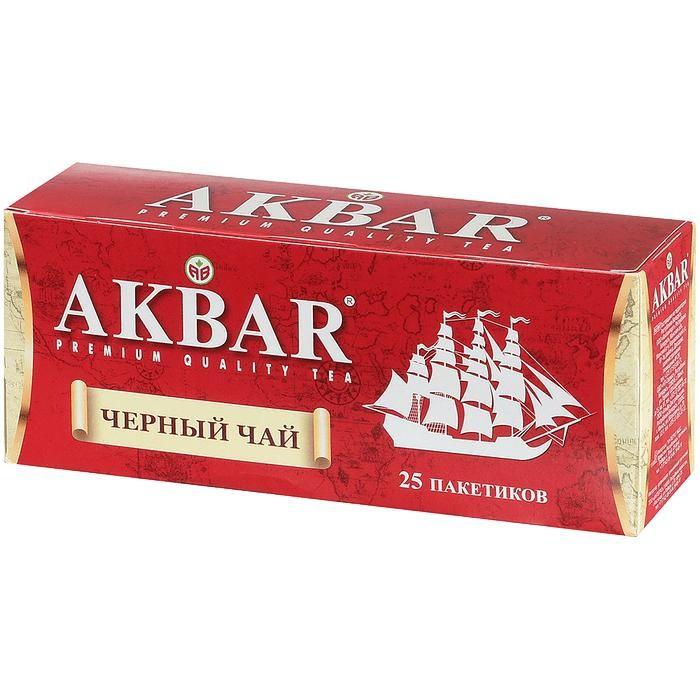 Чай Akbar Чай черный байховый мелколистовой Корабль 25 пак чай азерчай букет черный байховый 200г