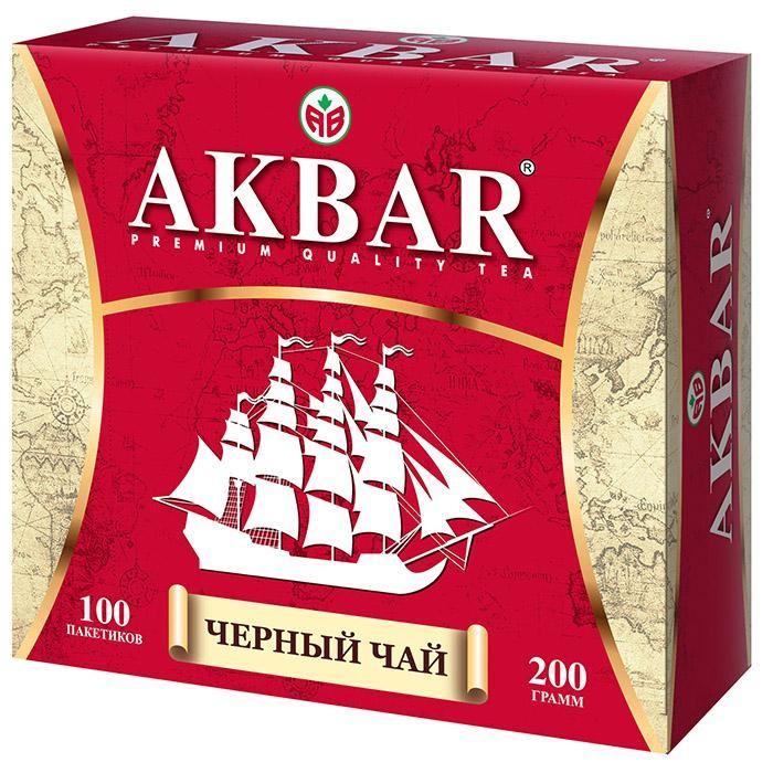 Чай Akbar Чай черный байховый мелколистовой Корабль 100 пак чай азерчай букет черный байховый 200г