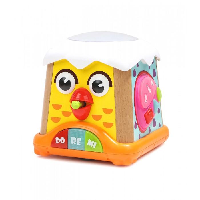 Картинка для Деревянная игрушка TopBright Музыкальный бизи-куб Цыпленок 5 в 1