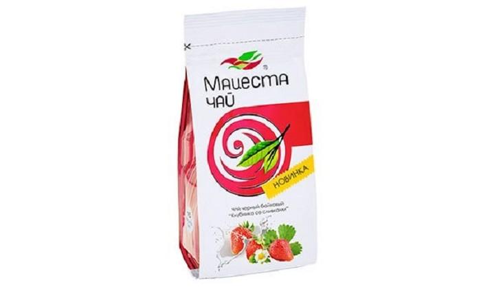 Чай Мацеста Чай черный байховый Клубника со сливками 75 г