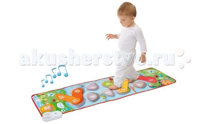 Игровой коврик Smoby МузыкальныйМузыкальныйСъемные фигурки имеют свое уникальное основание (квадрат, треугольник, шестиугольник и круг), поэтому наши веселые музыканты могут быть поставлены только на своё собственное место в этом маленьком оркестре.  Игра помогает ребенку научиться распознавать звуки и форму.  Игрушка работает от 4 батареек LR6 (в комплект не входят).  Размер: 140*35 см.<br>