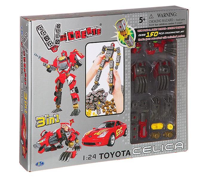 Роботы Happy Well Робот-трансформер Toyota Celica 3 в 1 (150 деталей) роботы happy well робот трансформер jaguar xj220 1 24