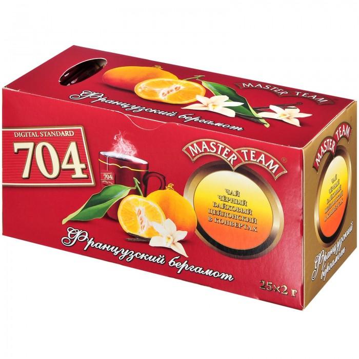 Чай Master Team Чай черный с ароматом бергамота и ванили Французский бергамот 25 пак.