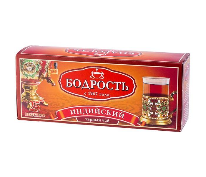 Чай Бодрость Чай Индийский черный байховый мелкий 25 пак чай азерчай букет черный байховый 200г