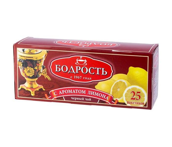 Чай Бодрость Чай Лимон черный байховый мелкий 25 пак чай азерчай букет черный байховый 200г