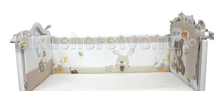 Бортики в кроватку Bombus Мишка с зайкой карман для вещей на кроватку bombus l abeille spring song