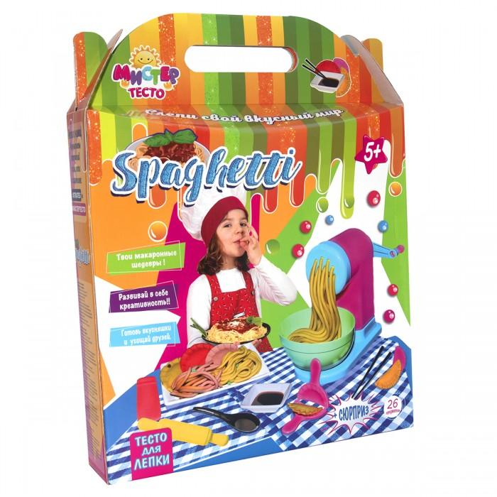 Тесто для лепки Strateg Набор теста для лепки Мистер тесто Spaghetti