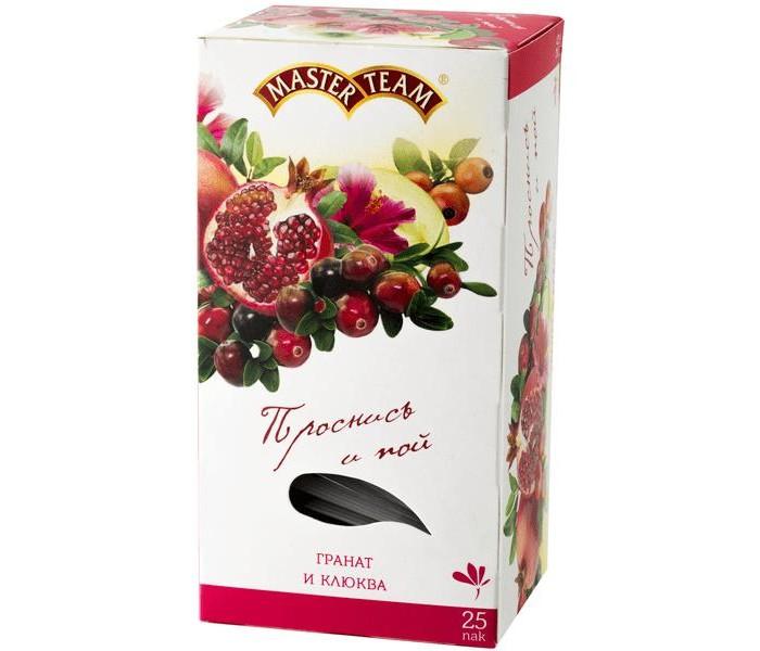 Картинка для Чай Master Team Чай травяной с кусочками и ароматом граната Гранат-клюква 25 пак.