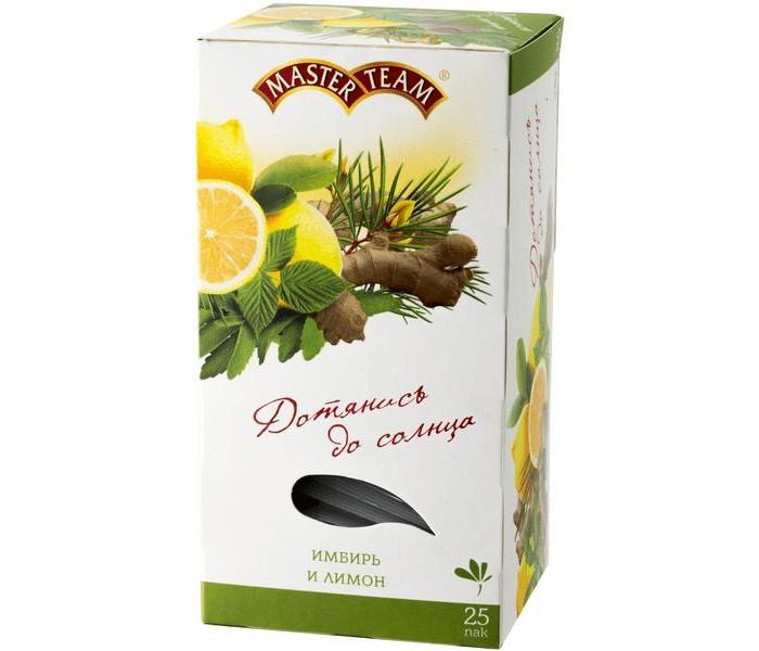 Картинка для Чай Master Team Чай травяной с имбирем, медовой травой и ароматом лимона 25 пак.