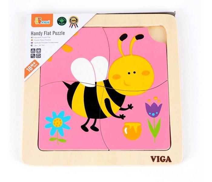 Деревянные игрушки Viga Пазл Пчелка деревянные игрушки viga пазл морские обитатели