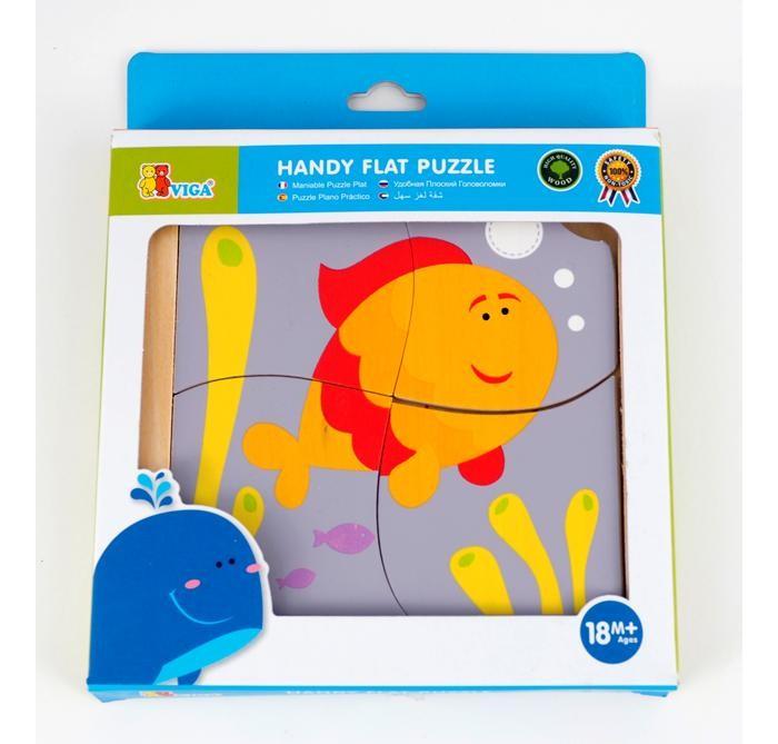 Деревянные игрушки Viga Пазл Рыбка деревянные игрушки viga пазл морские обитатели