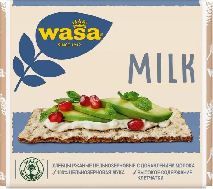 Правильное питание Wasa Хлебцы ржаные Молоко из цельнозерновой муки 230 г