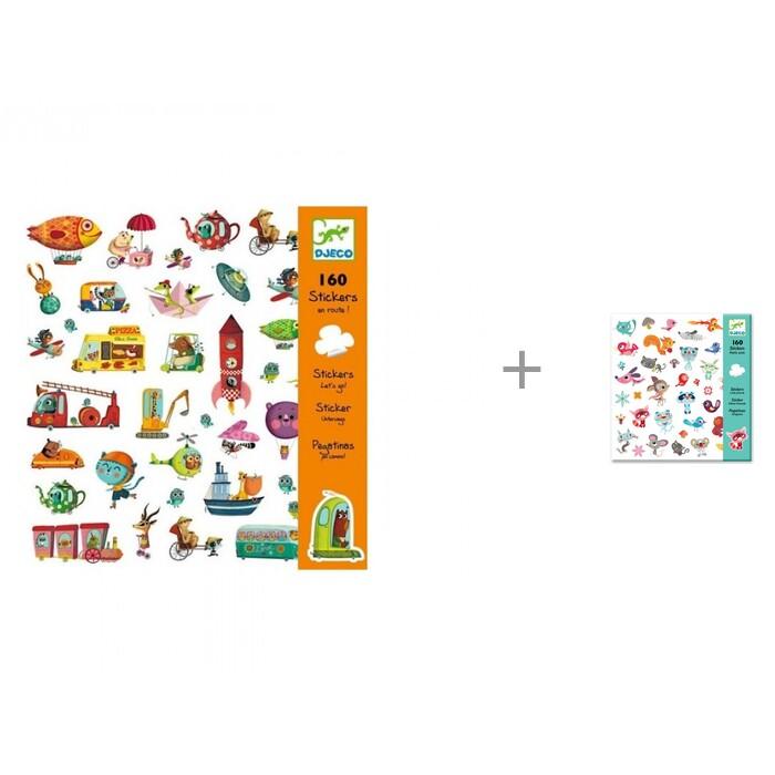 Картинка для Детские наклейки Djeco Наклейки В дорогу и Маленькие друзья