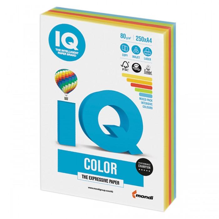 IQ Color Бумага цветная Микс Интенсив А4 250 листов