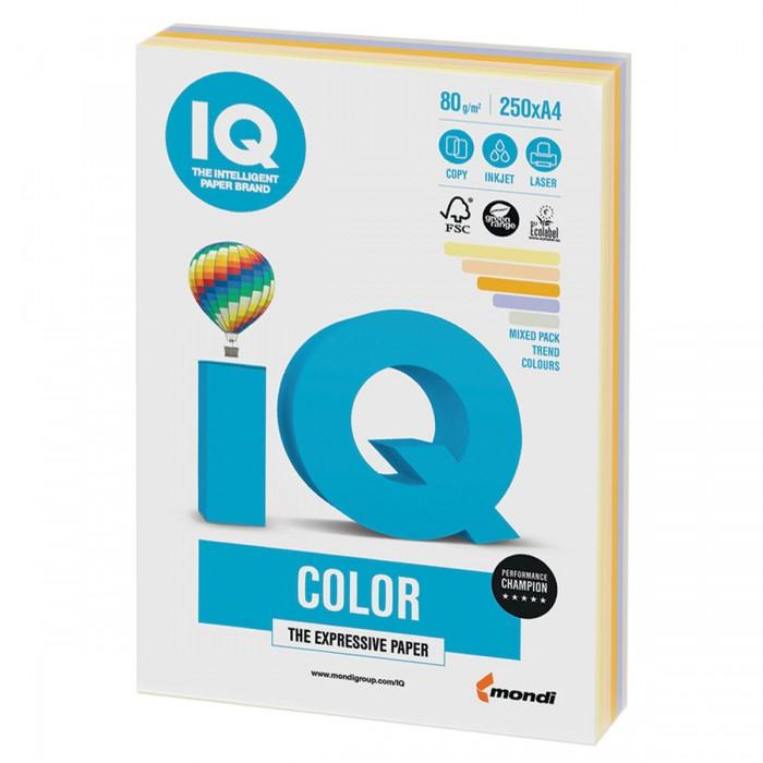 IQ Color Бумага цветная Микс Тренд А4 250 листов