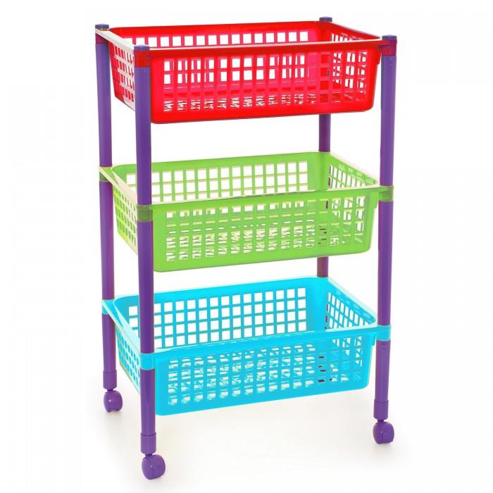 Ящики для игрушек Полимербыт Этажерка для игрушек на колесах ящики для игрушек полимербыт ящик для игрушек polly 15 л