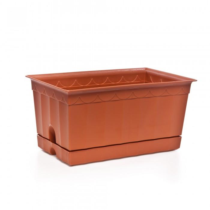 Картинка для Хозяйственные товары Полимербыт Ящик для цветов с поддоном 200 мм