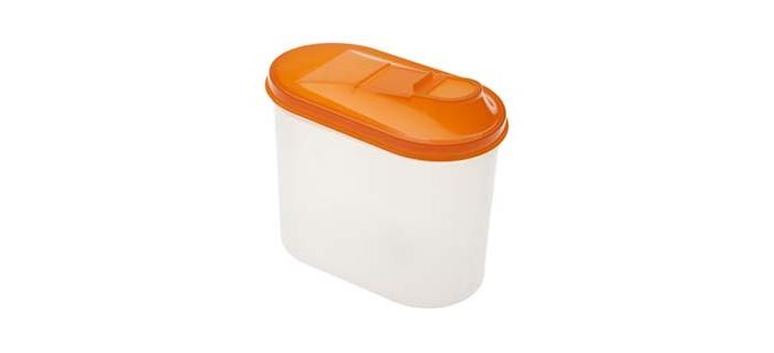 банка для сыпучих продуктов gipfel darna 1 л Контейнеры для еды Полимербыт Банка для сыпучих продуктов овальная с дозатором 1.5 л