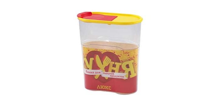 Контейнеры для еды Полимербыт Банка для сыпучих продуктов Люкс 2.3 л банка для сыпучих продуктов loraine 27808 розовый белый 170 мл