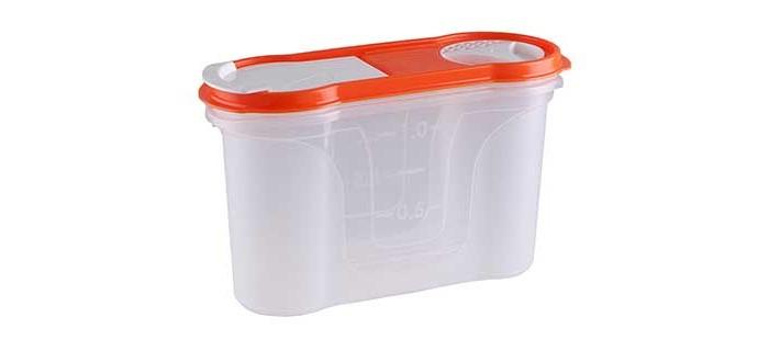 Контейнеры для еды Полимербыт Банка для сыпучих продуктов Стайл 1.3 л банка для сыпучих продуктов loraine 27808 розовый белый 170 мл