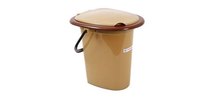 Хозяйственные товары Полимербыт Ведро-туалет 16 л 4320500 ведро полимербыт находка 10л 4307100