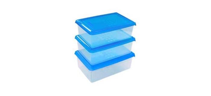 Картинка для Контейнеры для еды Plast Team Набор прямоугольных емкостей для продуктов Pattern 0.75 л 3 шт.