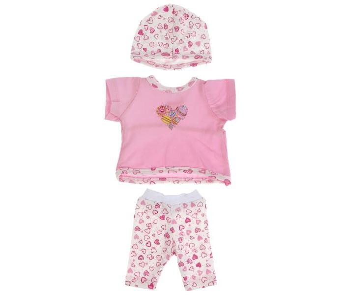 Купить Куклы и одежда для кукол, Карапуз Одежда для кукол Комплект сердечки 40-42 см OTF-2002SH-RU