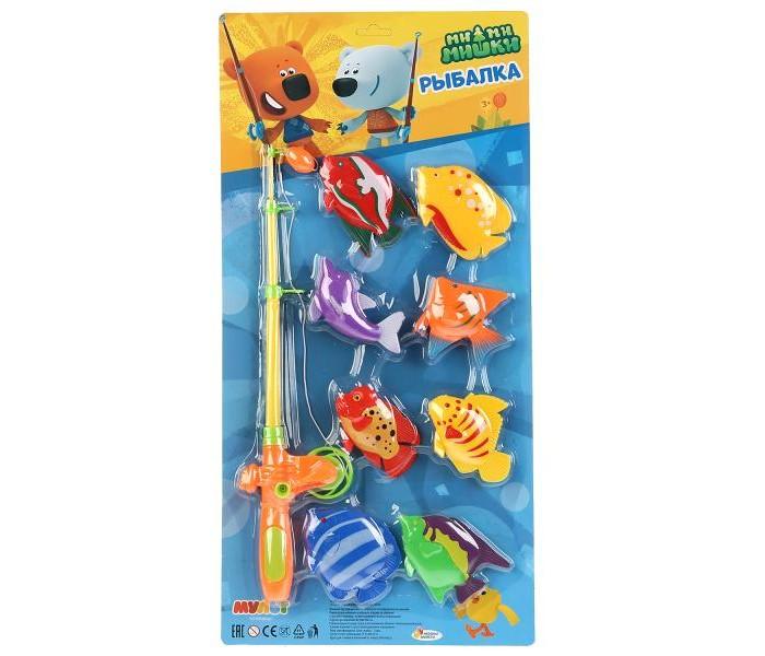 Игрушки для ванны Играем вместе Игра рыбалка Ми-Ми-Мишки пузыри мыльные играем вместе ми ми мишки 50мл 219159