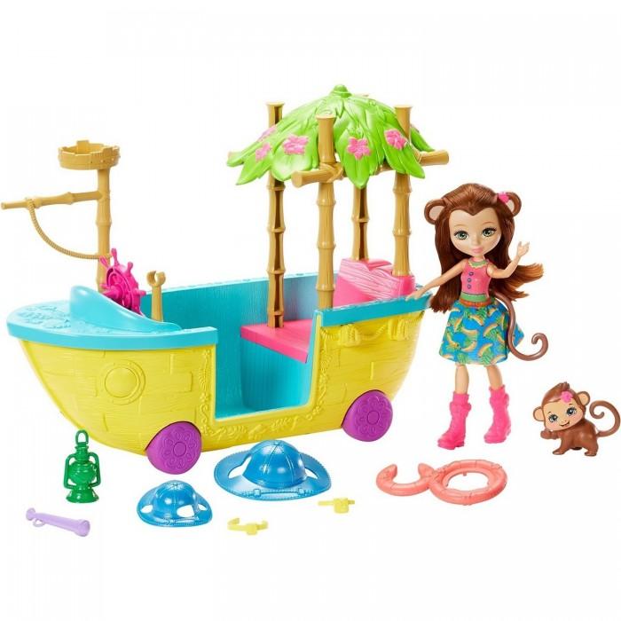 Купить Куклы и одежда для кукол, Enchantimals Набор игровой Джунгли-лодка
