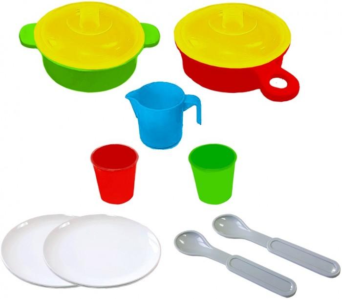 Фото - Ролевые игры Гринпласт Набор посуды (11 предметов) НП04 ролевые игры гринпласт набор овощи и фрукты 6 шт
