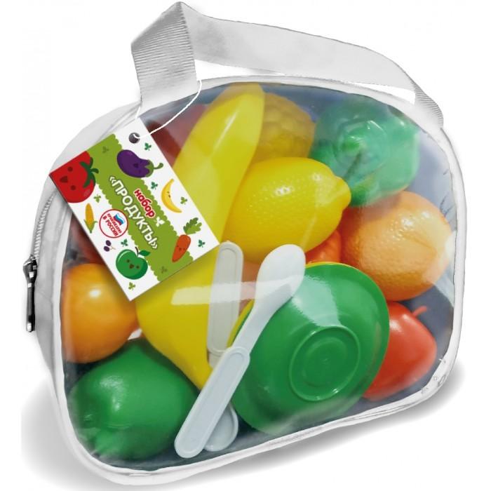 Купить Ролевые игры, Гринпласт Набор Продукты в сумочке (28 предмета)