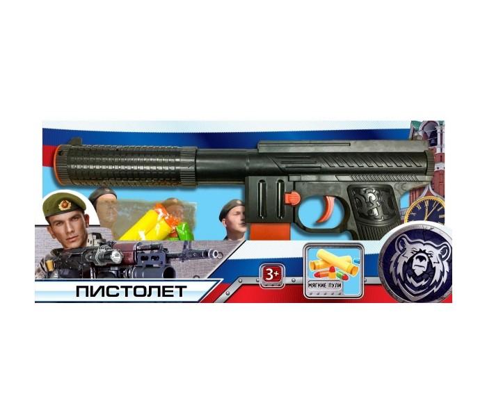 Картинка для Игрушечное оружие Играем вместе Пистолет с мягкими и пластиковыми пулями B1375182-R