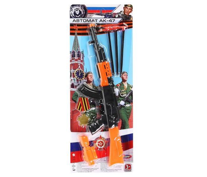 Игрушечное оружие Играем вместе Автомат с пулями на присосках B1807397-R игрушечное оружие играем вместе автомат игрушечный м 16
