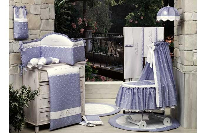 Постельные принадлежности , Одеяла BabyPiu Нежность  Одеяло из ткани пике с вышивкой 150х115 для кроватки арт: 9755 -  Одеяла