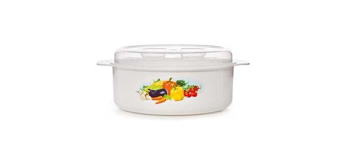 Посуда и инвентарь Полимербыт Кастрюля для СВЧ 1.2 л