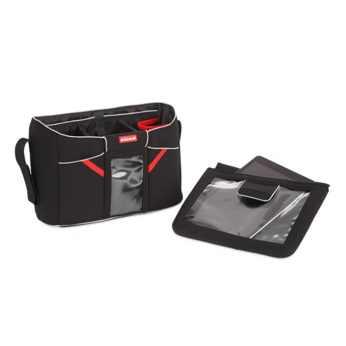 Diono Сумка-органайзер для детской коляски Buggy Tech StationСумка-органайзер для детской коляски Buggy Tech StationКомпактная и вместительная сумка со множеством карманов позволить держать под рукой все необходимые детские вещи и принадлежности.  Материал: полиэстер Габариты (ВхШхД): 22,1 х 8,9 х 30,5 см Вес изделия,0,44 кг<br>