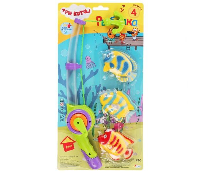 Картинка для Игрушки для ванны Играем вместе Игра рыбалка Три кота K095-H19006-R
