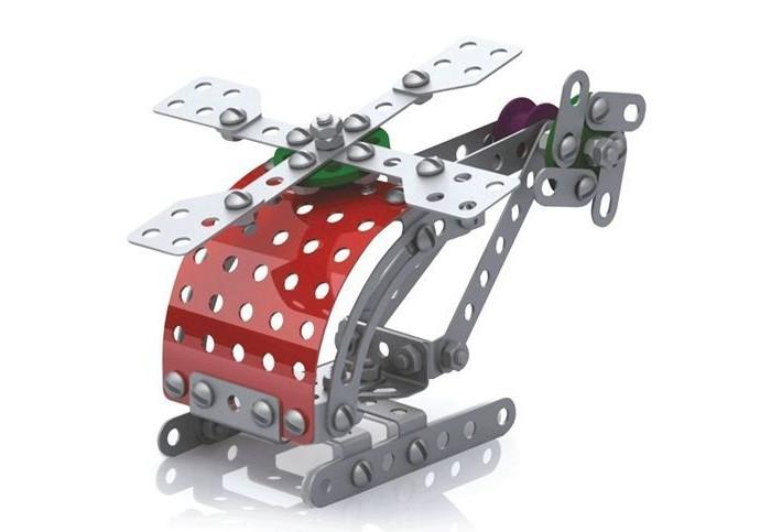 Конструкторы Десятое королевство металлический Вертолет с подвижными деталями