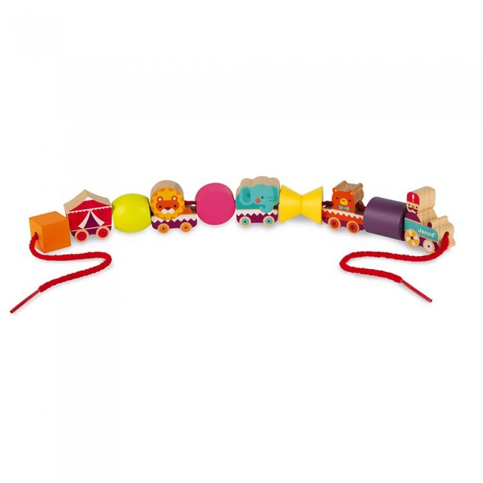 каталки игрушки janod на веревочке ксилофон sweet cocoon Конструкторы Janod Цирк на веревочке