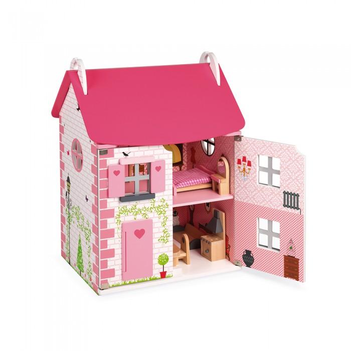 Кукольные домики и мебель Janod Домик кукольный с мебелью Мадемуазель недорого
