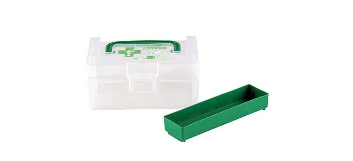 Фото - Аптечки Полимербыт Контейнер для аптечки дорожный 0.8 л контейнер полимербыт профи kids 32х14х38 см 50001 красный зеленый желтый