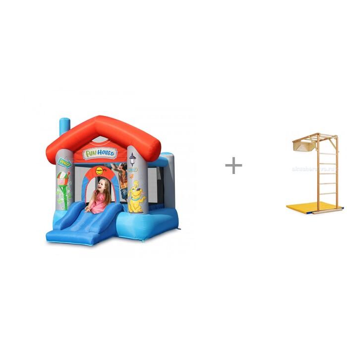 Купить Надувные батуты, Happy Hop Надувной батут Забавный дом и деревянный складной уголок Kidwood Жираф