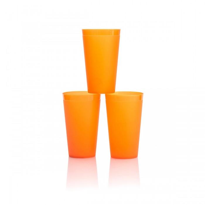 Картинка для Посуда Полимербыт Набор стаканов для сока 0.4 л 3 шт.