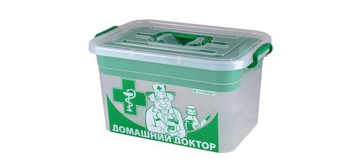 Аптечки Полимербыт Контейнер для аптечки дорожный 10 л violet контейнер для